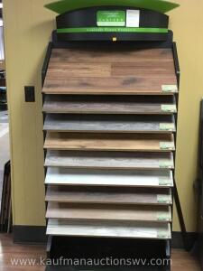 Wood flooring display rack with floor samples