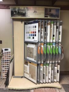 Ceramic tile display rack with samples and laminate molding samples