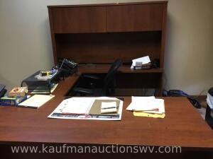 Three piece office desk and chair