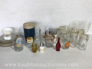 Creamers, plates, small canisters, etc.