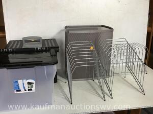 File carriers, trashcan, file organizers