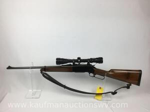 Browning Arms Co. Model 81BLR 7MM-08 w/ White Tail Scope 3 x 9 x 40 & Rubber Sling Serial#50111PT227