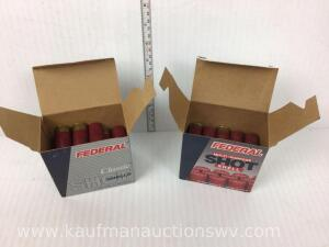 "Two Partial Boxes Federal 12 Gauge 2 3/4"" 7 1/2 Shot"