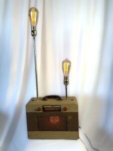 Retro Radio Edison Lamp - Custom made