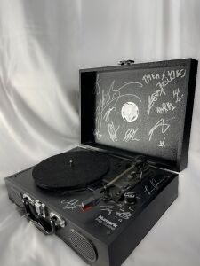 "Autographed Numark PT01 ""Touring"" Turn Table"