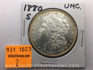 1880 S Uncirculated Morgan