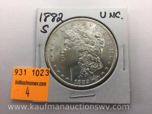 1882 S Uncirculated Morgan