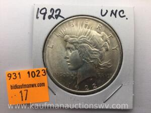 1922 Uncirculated Peace