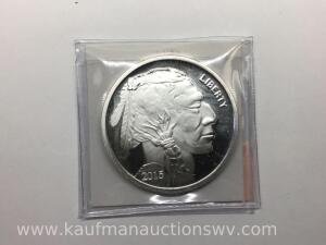 2015 Buffalo Indian Head 1 ounce fine silver bullion