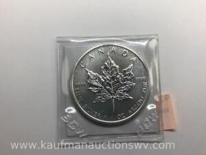 2011 $5 Elizabeth ll maple leaf bullion