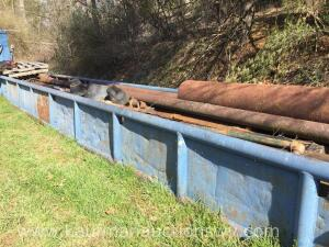 Drill Tub with Pipe and Culvert Pipe 7' x 40'
