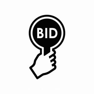 "Bidding Options/Definitions - ""Bid $"" - bids the next dollar increment"