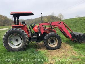1998 Massey Ferguson 4255 4x4 W/ Canopy, Bucket and Spear
