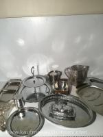 Selection of silver plate.